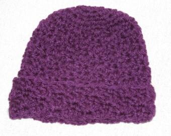 Dark Purple Baby hat