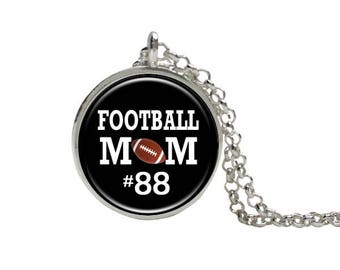 Football Mom Necklace, Personalized Number, Gift,