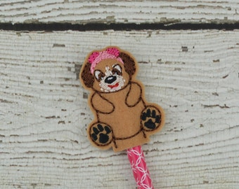 Skye Pencil Toppers - Paw Patrol Inspired - Party Favor - Valentine - Small Gift - Back to School