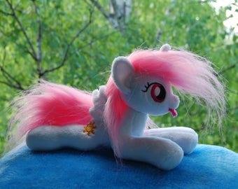 Filly Princess Celestia [mini pony handmade minky mlp plush toy beanie]