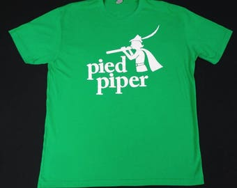 Pied Piper - Silicon Valley - funny humor - Green T-shirt