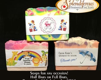 Wedding, Shower & Special Occasion favours, with personalized labels.