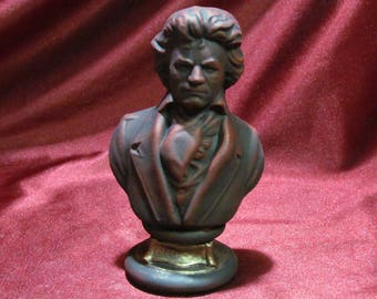 Ludwig Van Beethoven Bust - Hand Painted Finished Ceramic Bisque