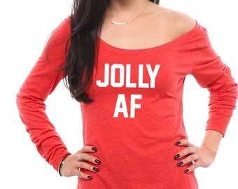 jolly af jolly af shirt christmas shirt funny christmas shirt gift for