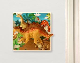 Dinosaur Dimmer Light Switch - Nursery Lighting - Children's Dinosaur Bedroom Decor -Dinosaur Decor - Dinosaur Nursery -Stegosaurus Gift
