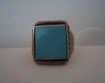 Vintage turquoise and sterling ring