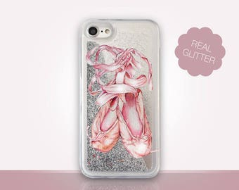 Ballet Shoes Glitter Phone Case Clear Case For iPhone 8 iPhone 8 Plus - iPhone X - iPhone 7 Plus - iPhone 6 - iPhone 6S - iPhone SE iPhone 5