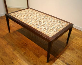 1960's Danish Tiled Coffee Table by Haslev