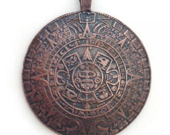 1 followers, Mayan calendar, copper color, 47mm, 1 Stü