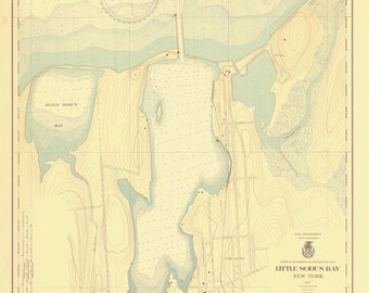 Little Sodus Bay - Lake Ontario Historical Map 1937