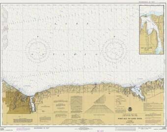 Lake Ontario - Port Bay to Long Pond Map 1981