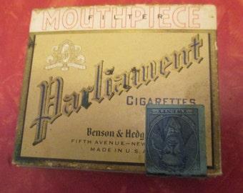 Benson & Hedges Parliament Cigarettes - Empty Box  (Q17)