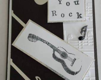 Rockin' Guitar Birthday Card