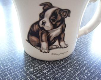 Edwin Megargee Mug  Boston Terrier Mug  Boston Bull Dog Mug USA Vintage