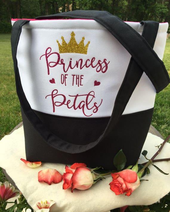 Flower Girl Gift - Flower Girl Tote Bag - Princess of the Petals - Flower Girl Crown -  Gift for Flower Girl