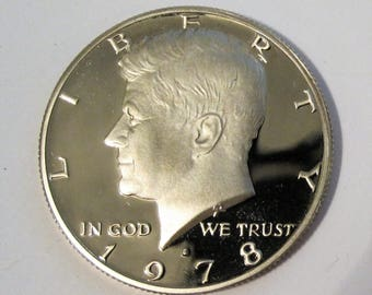 1978-S Clad Proof Kennedy Half Dollar