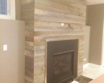 Barn wood clad wall