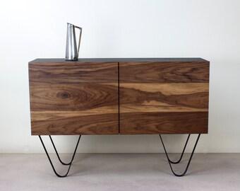 Walnut Credenza 'Mid Century' 'Industrial' Sideboard/Cabinet/Cupboard