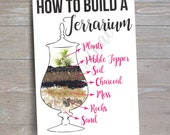How to build a Terrarium Cheat Sheet // INSTANT DOWNLOAD // Party Decor // Printable, Digital