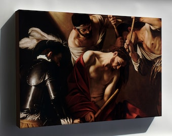 Canvas 24x36; Crowning With Thorns (Caravaggio)
