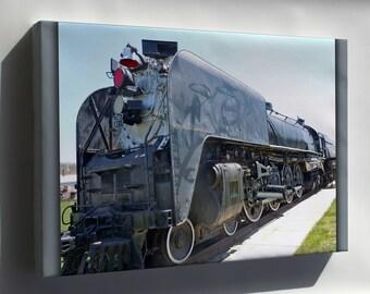 Canvas 24x36; Union Pacific Railroad Locomotive Train 814
