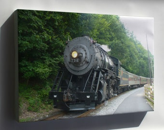Canvas 16x24; Maryland Railroad Steam Engine, 2-8-0 Locomotive Built 1916
