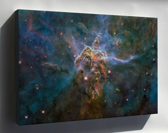 Canvas 16x24; Mystic Mountain Inside Carina Nebula Hubble Space Telescope Image