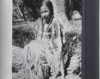Canvas 16x24; Indian Girl Dressed In Native Costume Nara 285542