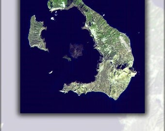 16x24 Poster; Santorini Island, Greece Atlantis