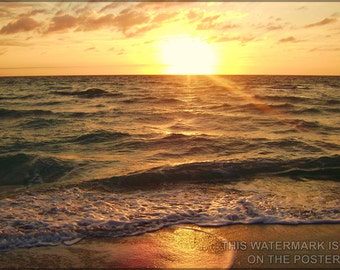 16x24 Poster; Sunrise  Over The Atlantic Ocean In Hollywood Florida