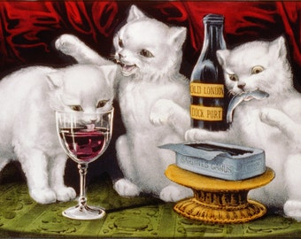 16x24 Poster; Three Jolly Kittens, 1871 Currier And Ives