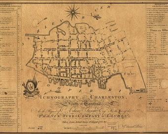 16x24 Poster; Building Map Of Charleston South Carolina 1790