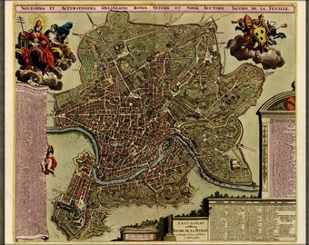 16x24 Poster; Map Of Rome 1709