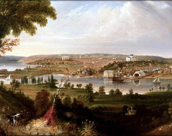 16x24 Poster; Washington D.C. From Beyond The Navy Yard By George Cooke, 1833