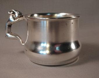 Adorable Bunny Handle Silverplated Child Mug