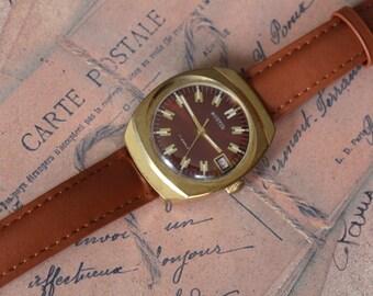 Mens Watch, wrist watch soviet watch VOSTOK vintage watch mechanical watch Gold Plated Watch men watch for men Mechanical WOSTOK watch