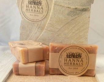 Egyptian Amber Confetti Soap 4 ounce bar - shea butter soap -confetti soap - sandalwood soap