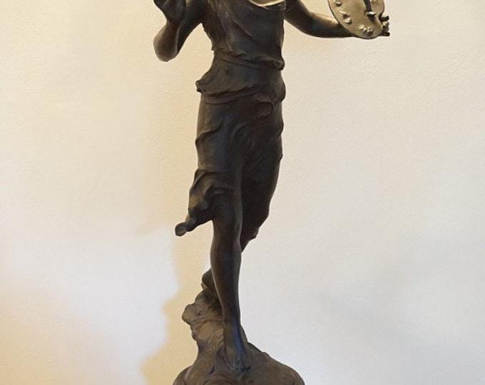 Large Spelter Artist Statue