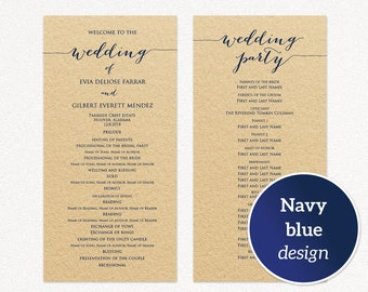 wedding program templates ceremony program template two sizes wedding program printable template