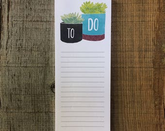 Succulents - To Do List - Notepad