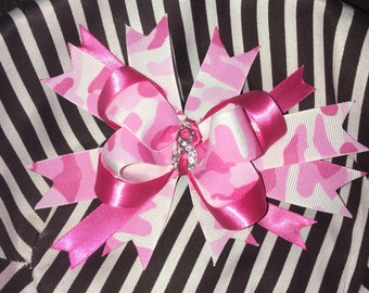 Breast Cancer Support hair bow