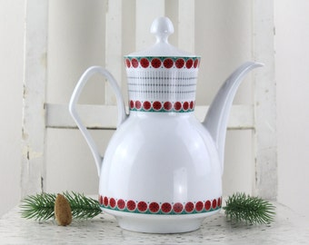 Vintage-Bavaria Johann Seltmann Vohenstrauß Coffee pot porcelain Original German porcelain.