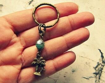 Palm Tree Keychain, Palm Tree Accessories, Island Girl, Tropical Keychain, Tropical Gifts, Salvina's Treasures