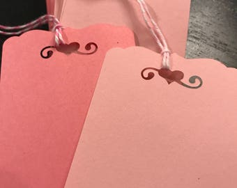 Light and Medium Pink Gift Tags