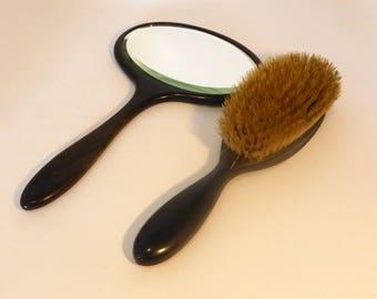 Mirror And Brush Set Etsy