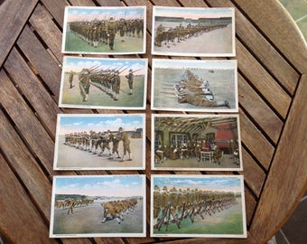 Life in the U. S. Army Cantonment Soldiers Vintage postcards