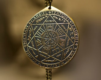 The Seal of the Seven Archangels by Asterion seal solomon kabbalah amulet pendant