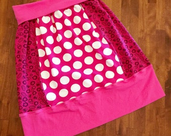 Rainbow Bubba 'Pretty in Pink' Stretch Skirt in Size 8