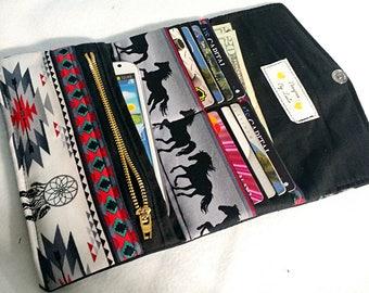 Handmade Horse Tri Fold Wallet