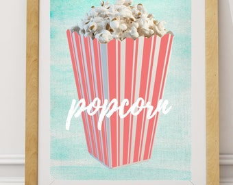 Nursery Decor, PRINTABLE art, Nursery Art, Popcorn Print, Boys Room, Girls Room, Colorful Print, Fun Print, Kids Room Decor